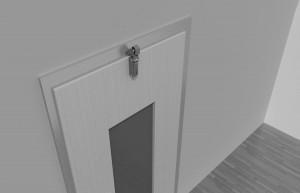 Door damper Z 1000 overlapping door