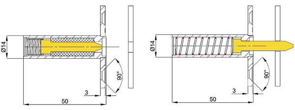 Thermal bolt for fire doors HLS - Function