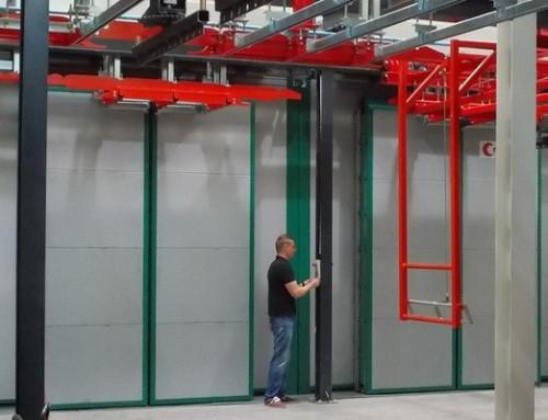 Sistema de accionamiento modular controla puertas dobles de secadoras industriales