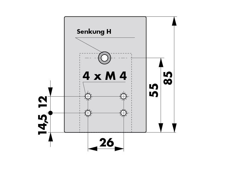 Montageplatte Haken VS2000 205232