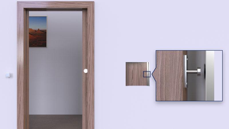 Tope de reposicion para puertas corredas