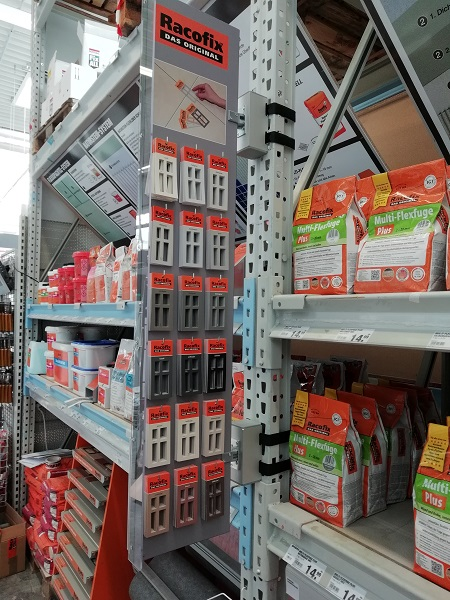 Stopper de estantería para mayor superficie de ventas
